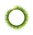 Circle frame with grass and sunlight Floral nature vector image vector image