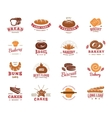 Colorful Label Set Of Bakery Goods vector image vector image