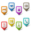 Colorful set pointers for services vector image