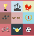 concept of set lifestyle sports equipment vector image vector image