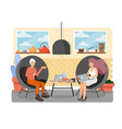 coworking center flat style design vector image