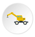 crane truck icon circle vector image vector image