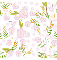cute sweet flower and floral seamless pattern vector image vector image
