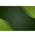 Dark green corporate material brochure design vector image vector image