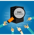 DNS Domain Name System Server vector image vector image