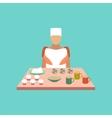 flat icon on stylish background school cook vector image