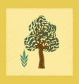 flat shading style plant fraxinus vector image vector image