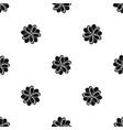 flower pattern seamless black vector image vector image