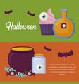 halloween celebration design vector image vector image