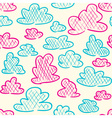 hand drawn clouds seamless pattern background vector image vector image