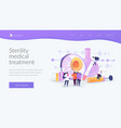 infertility landing page concept vector image vector image