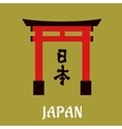 Japanese torii gate in flat style vector image