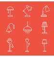 Lamps and lighting devices vector image vector image