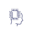 machine learning and ai line icon vector image vector image