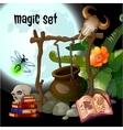 magic set wizard vector image vector image