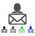 mail recipient flat icon vector image