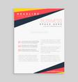 minimal brochure flyer design with bright trendy vector image