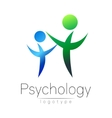 Modern people psi logo of Psychology Family Human vector image vector image