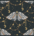 moth seamless pattern vector image vector image