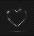 neon heart sign vector image vector image