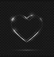 neon heart sign vector image vector image