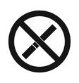 No smoking sign iconsimple style vector image vector image