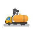 Oil logistic petroleum transportation tank car vector image vector image