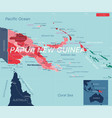 papua new guinea country detailed editable map vector image vector image