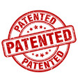 patented stamp vector image