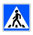 pedestrian crossing sign vector image vector image