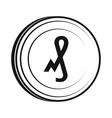 Pfennig icon simple style vector image vector image
