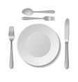 Plate and cutlery vector image vector image