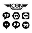 quotation mark speech bubble icon vector image
