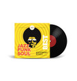 realistic vinyl record with cover mockup disco vector image