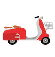 retro vespa scooter motorcycle travel vector image