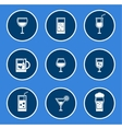 round glasses icon set vector image vector image