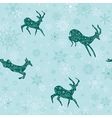 seamless christmas background with emerald goats vector image