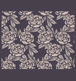 seamless pattern with peony flowers in vintage vector image vector image