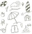 Semmer sketch doodle vector image vector image