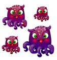set cartoon funny fantasy animals a hybrid of a vector image