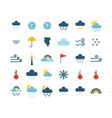 set climate forecast weather icons vector image vector image