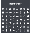 Set of restaurant simple icons vector image vector image