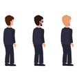 side view males flat style man constructor set vector image vector image