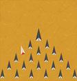 Strange rocket vector image