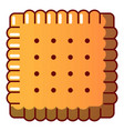 tasty biscuit icon cartoon style vector image vector image