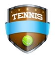 Tennis Shield badge vector image vector image