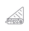 tortilla line icon concept tortilla linear vector image