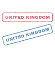 united kingdom textile stamps vector image vector image