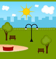 view of a public park vector image vector image