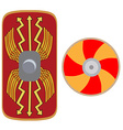 Viking and roman shield vector image vector image